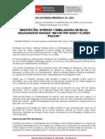 """MINISTRO DEL INTERIOR Y EMBAJADORA DE EE.UU. INAUGURARON HANGAR """"MAYOR PNP NANCY FLORES PÁUCAR"""""""