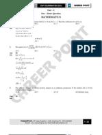 KVPY Paper Solution XI 04-11-12