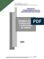 Mat Enseñanza -Normas pra consultoria y ejecucion de Obras