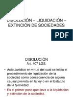 Disolucion y Liquidacion....