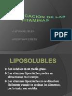 CLASIFICACIÓN DE LAS  VITAMINAS (1)