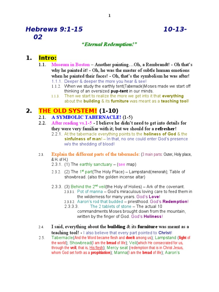 58 Hebrews 009 001 Tabernacle Religious Belief And Doctrine