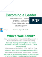 Becoming a Leader with Wali Zahid