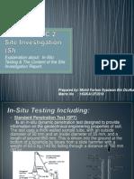 GEOTECHNIC 2 - Site Investigation
