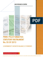 PMRC Policy Analysis for Statutory Instrument No.55 of 2013