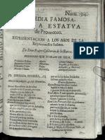 Pedro Calderón de la Barca - La estatua de Prometeo