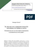 .Arceo  El fracaso de la reestructuración neoliberal en A. L.