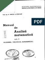 Analiza Matematica - M.N.rosculet_Vol. I