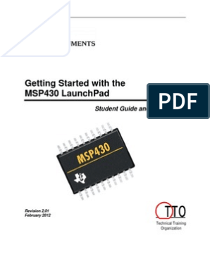 Getting Started with the MSP430 LaunchPad pdf   Installation