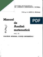 Analiza Matematica - M.N.rosculet_Vol. II