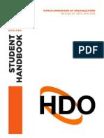 HDO Student Handbook (2013-2014)