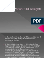 Patient's Bill of Rights & the likes