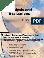 CBT-2 Analysis, Evaluation