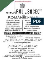 OCR - Anuarul Socec Al Romaniei Mari - Vol. I - Bucuresti - 1925- 1926