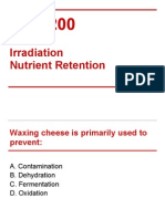 FNH 200 - Midterm 2, Irradiation and Nutrient Retention