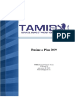 TAMID Israel Investment Group_Business Plan