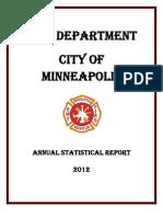 Minneapolis Fire Department 2012 Statistical Reporrt