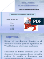 Seleccion de Bomba