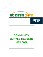 ACCESS 2011 May 2009 Survey Report