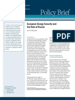 European Energy Security and the Role of Russia