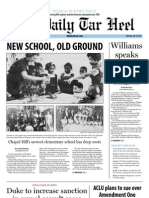 The Daily Tar Heel for July 18, 2013