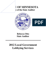 2012 Minn. Local Government Lobbying Report