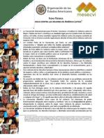 America Latina - FICHA TÉCNICA VIOLENCIA CONTRA LAS MUJERES EN AMÉRICA LATINA