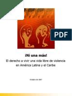 America Latina - Ni Una Mas - El Derecho a Vivr Una Vida Libre de Violencia