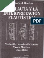La Flauta y la Interpretación Flautística - T. Boehm