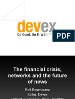 The Financial Crisis, Networks and Future of News