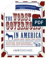 Crew Report 2013, Worst Governors in America
