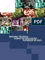 Resumo Tecnico Censo Educacao Superior 2011
