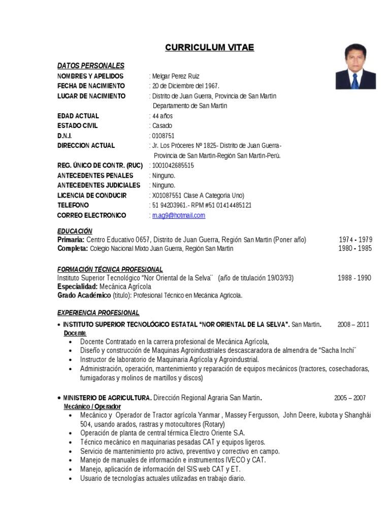 Magnífico Ejemplos De Curriculum Vitae Activo Regalo - Colección De ...