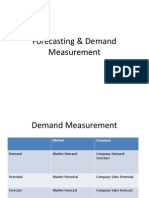 Forecasting & Demand Measurement