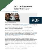 Muslim Grievance Scam
