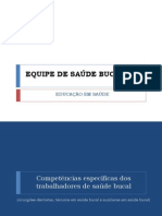 EQUIPE DE      SAÚDE BUCAL PSF