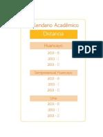 Calendario Academico Distancia