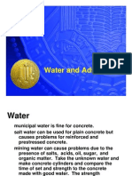 Water and Admixture