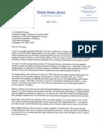 Senator Warner letter on TRICARE autism benefits