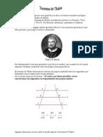 Thales de Mileto. Teorema