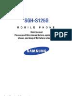 sgh-s125d User Guide