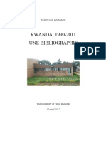 Rwanda.1990 2011 Bibliographie