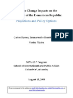 Climate Change Impacts on the Hydrology of the Dominican Republic