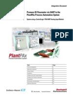 Promass 83 Flowmeter via HART to the PlantPAx Process Automation System