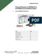 Promass 83 Flowmeter via PROFIBUS PA to the PlantPAx Process Automation System Using a 1788-En2PAR Linking Device