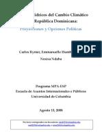 Impactos Hidricos Del Cambio Climatico en La Republica a