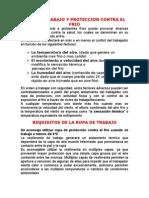 ROPA DE TRABAJO Y PROTECCION CONTRA EL FRIO.doc