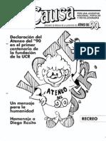 LA CAUSA año 1 nro 1. septiembre 1991