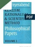 Paul Feyerabend Realism Rationalism and Scientific Method