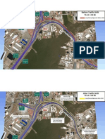 Before and after views of traffic shift onto Pearl Harbor Memorial Bridge